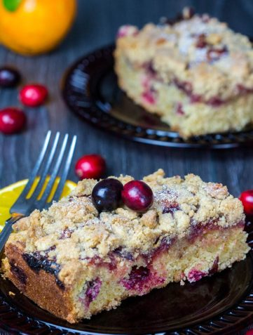 Cranberry and Orange Crumb Cake