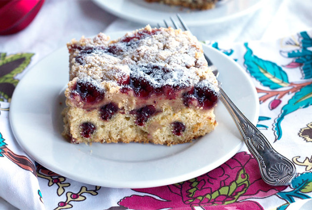 Orange & Cranberry Crumb Cake feature