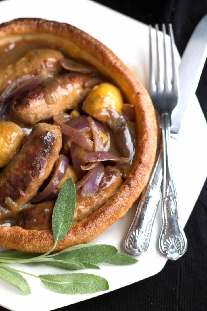 Slow Cooker Apple Sausage in Onion Gravy - Erren's Kitchen