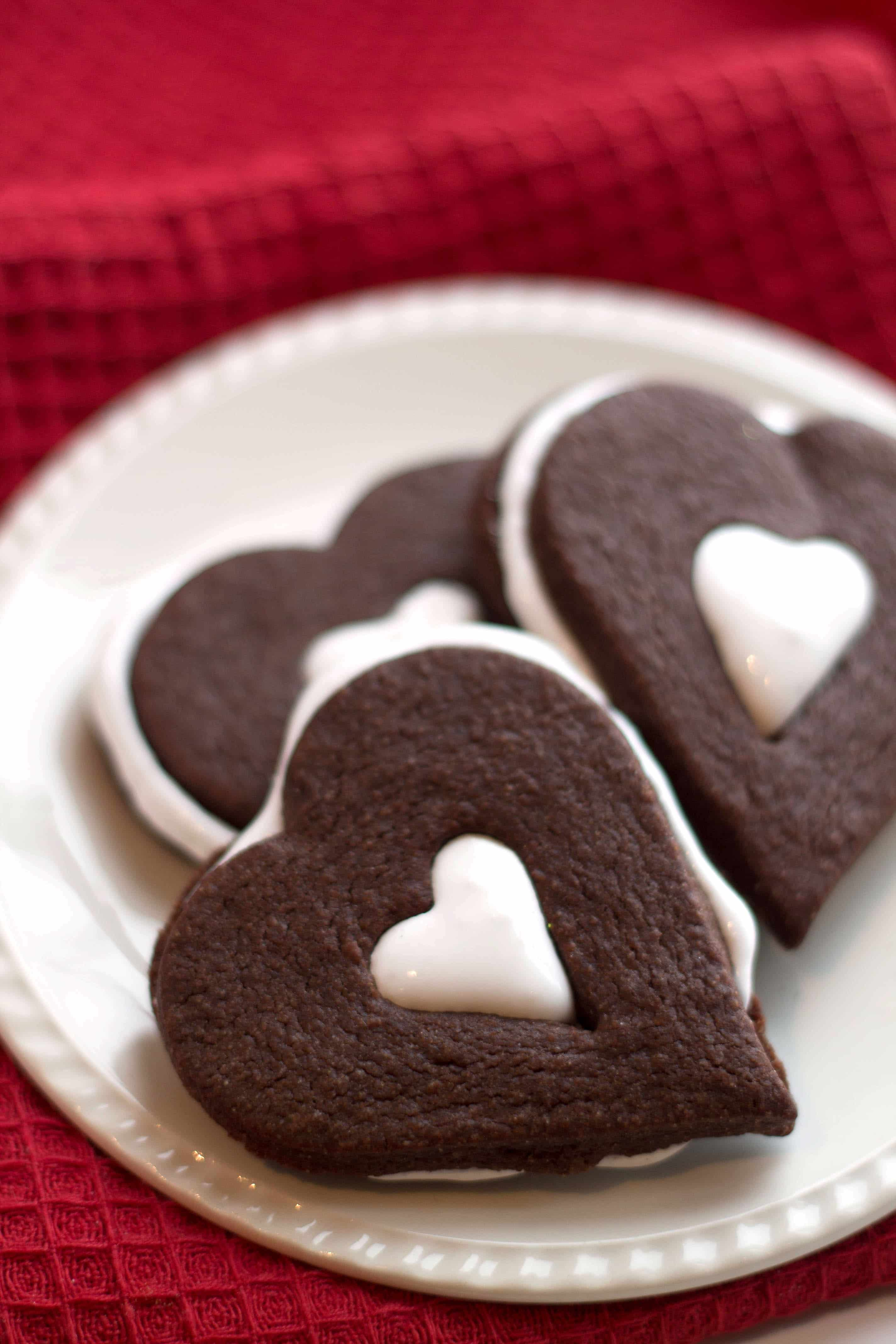 Chocolate Marshmallow Linzer Cookies