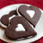 Chocolate and Marshmallow Cookies on a plate