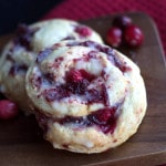 Iced Cranberry & Orange Swirl Scones - Erren's Kitchen