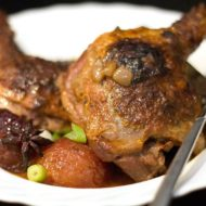 Slow Cooked Chinese Duck with Plums