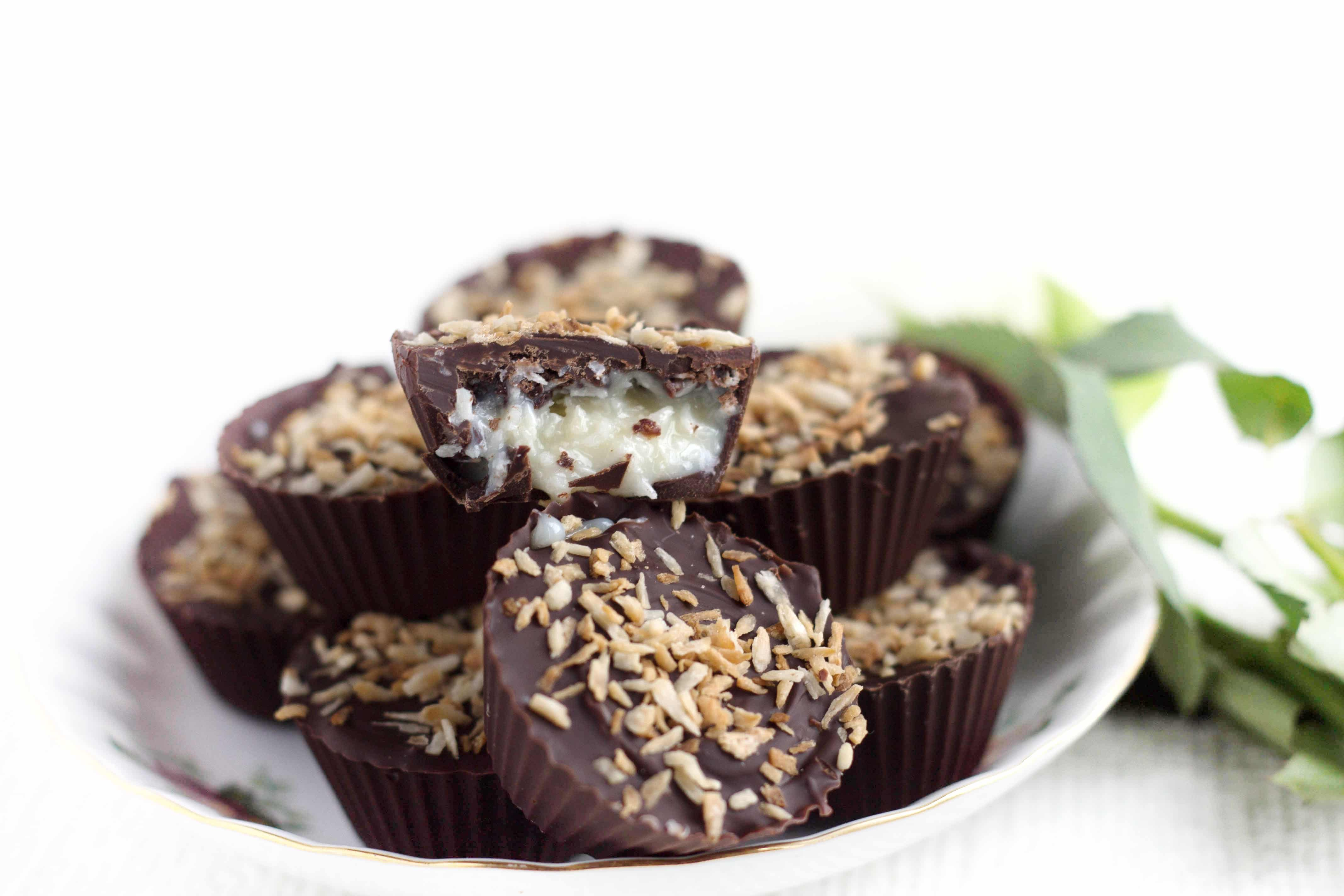 Homemade Coconut Mounds Cups - Erren's Kitchen - If you love Mounds Bars (or Bounty Bars) you'll love this recipe!