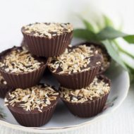 Homemade Coconut Mounds Cups