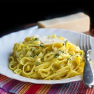 Quick & Easy Tagliarini with Saffron Cream Sauce