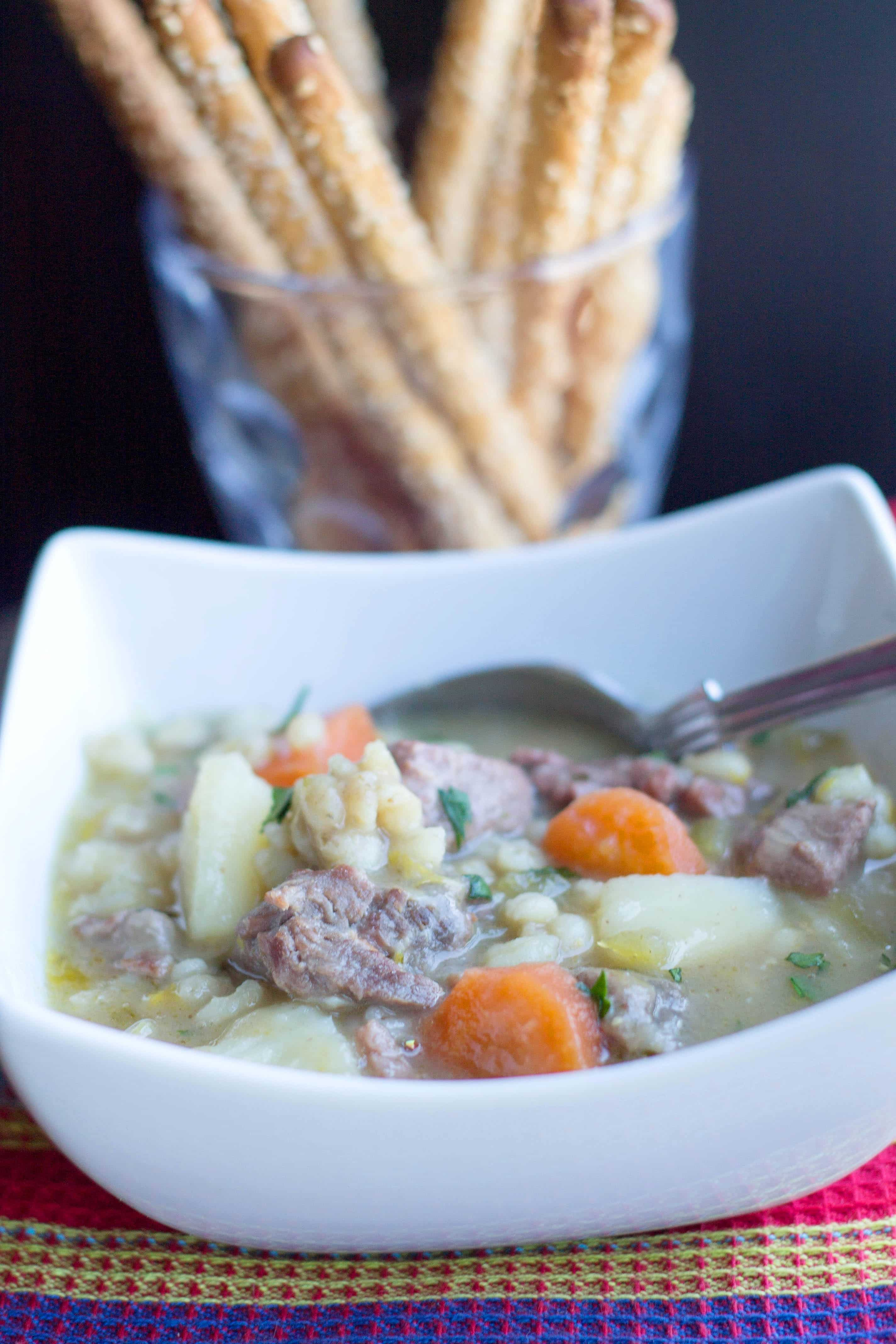 Classic Irish Stew - Erren's Kitchen - This delicious version of classic Irish Stew is a one-pot dish that uses a cheaper cut of lamb, which means you'll skimp on price but not on flavor.