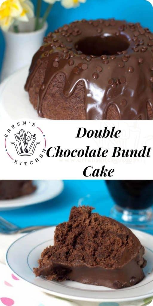 double chocolate bundt cake ready to eat