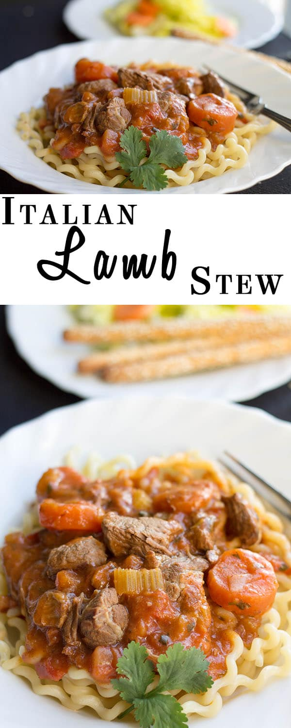 Italian Lamb Stew - Erren's Kitchen - This savory recipe makes a delicious, rich stew with lamb that just melts in your mouth!
