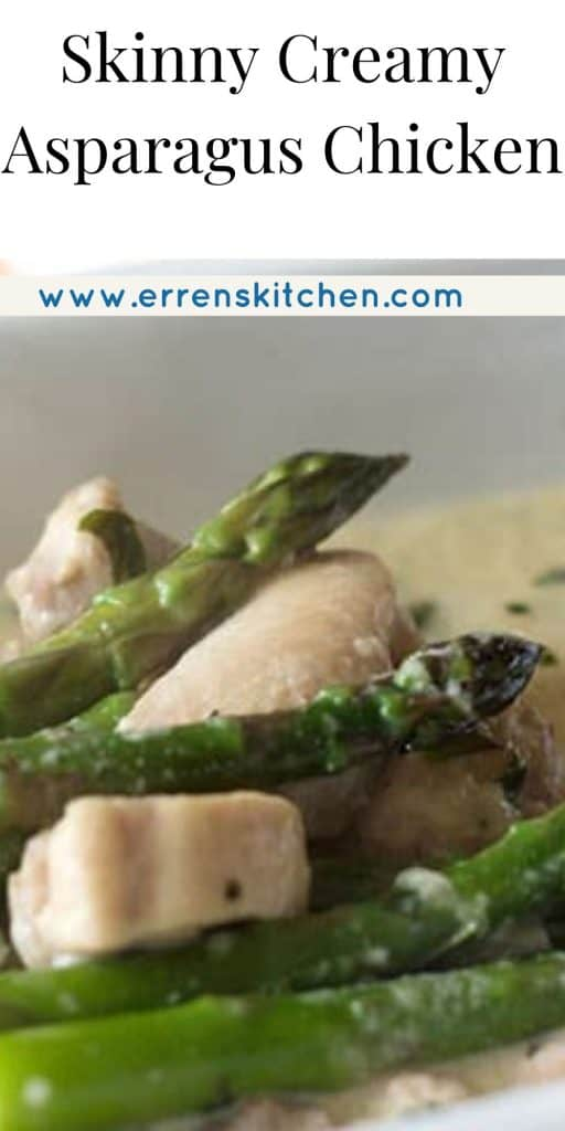 asparagus and chicken in a cream sauce