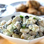 Speedy Potato Salad with Olives & Green Onions