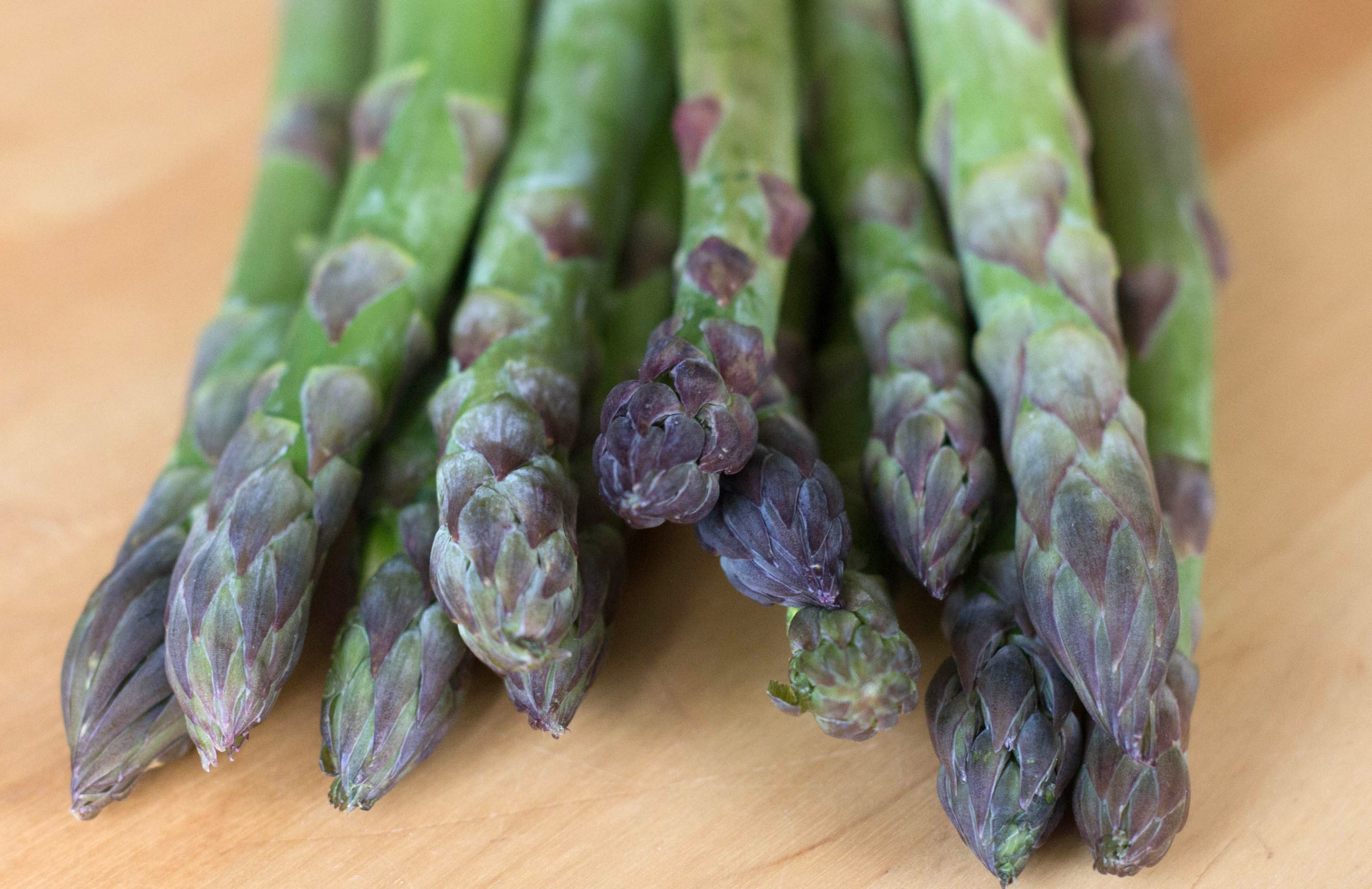 a fresh bunch of asparagus