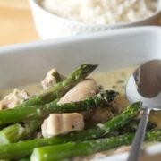 Skinny Creamy Asparagus Chicken