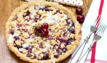 Cherry Vanilla Shortbread Tart feature