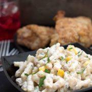 Salade de pâtes au thon rapide et facile close up