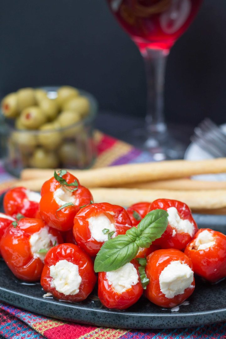 Cream Cheese & Ricotta Stuffed Piquante Peppers