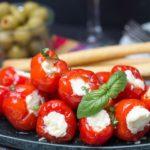 Cream Cheese & Ricotta Stuffed Piquante Peppers