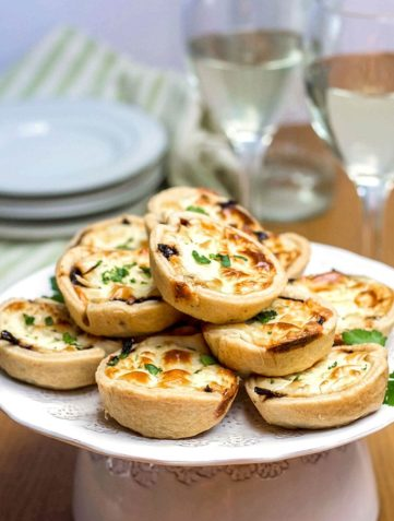 Feta and Caramelized Onion Tarts