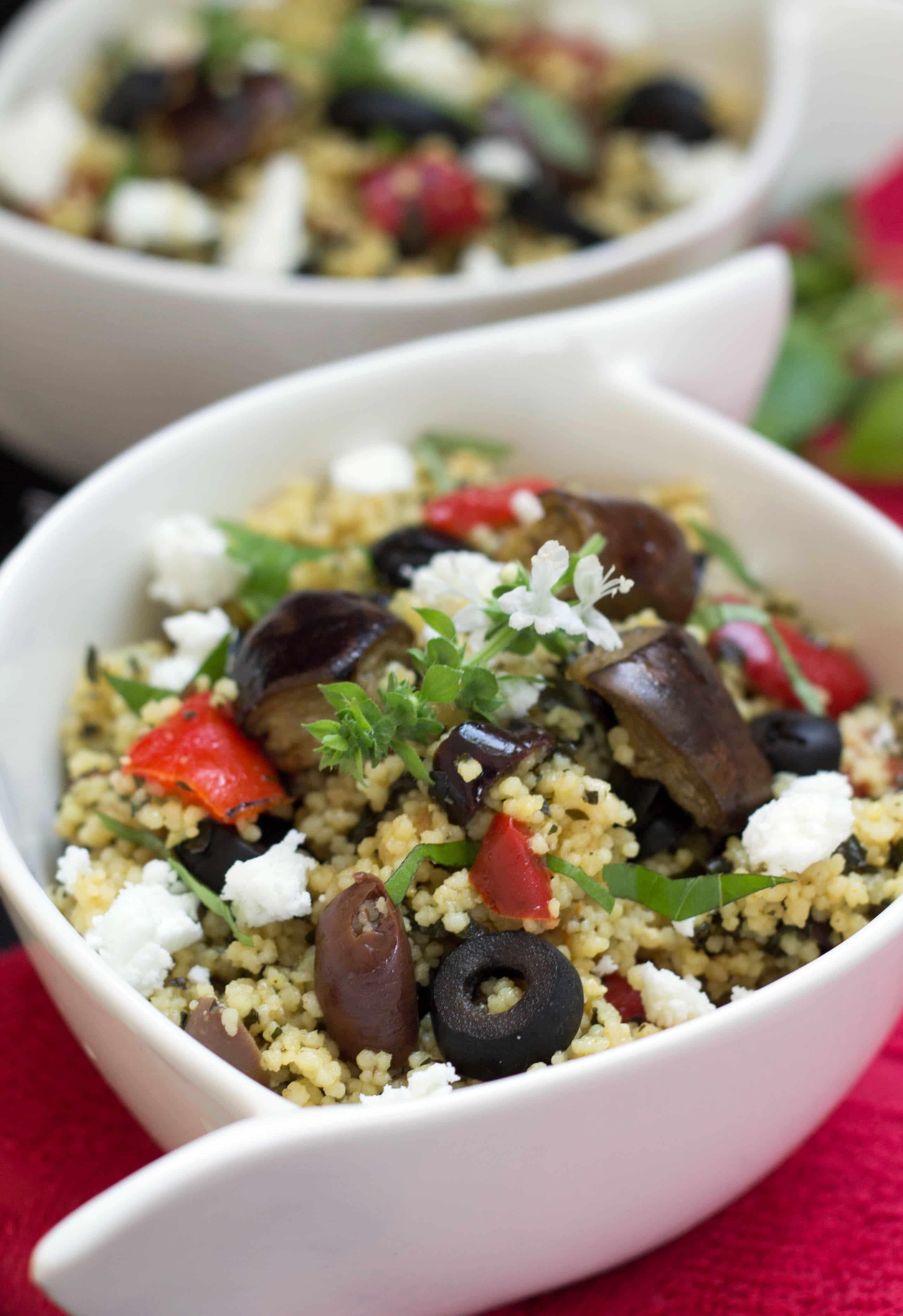 Roasted Eggplant Couscous Salad - Erren's Kitchen