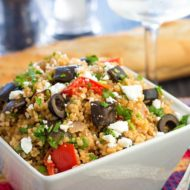 Mediterranean Couscous Salad with Roasted Eggplant