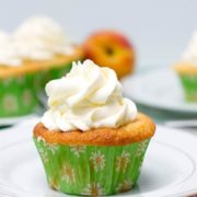 My Peaches & Cream Cupcakes