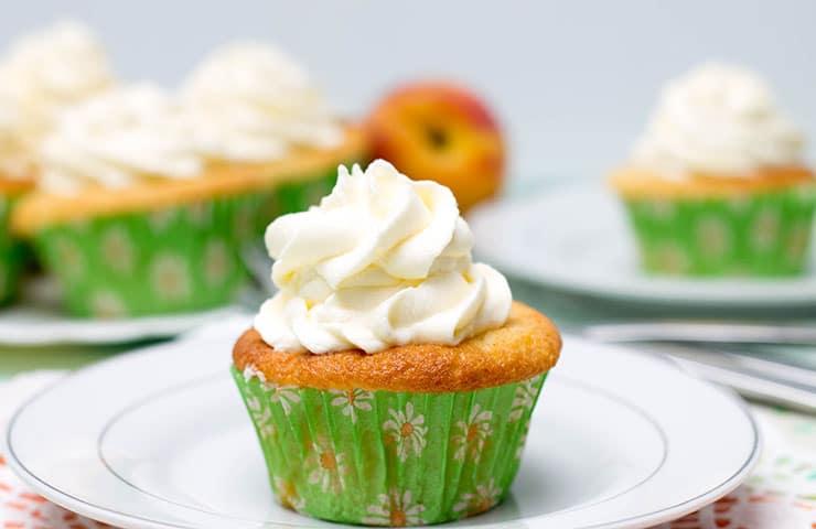My Peaches & Cream Cupcakes