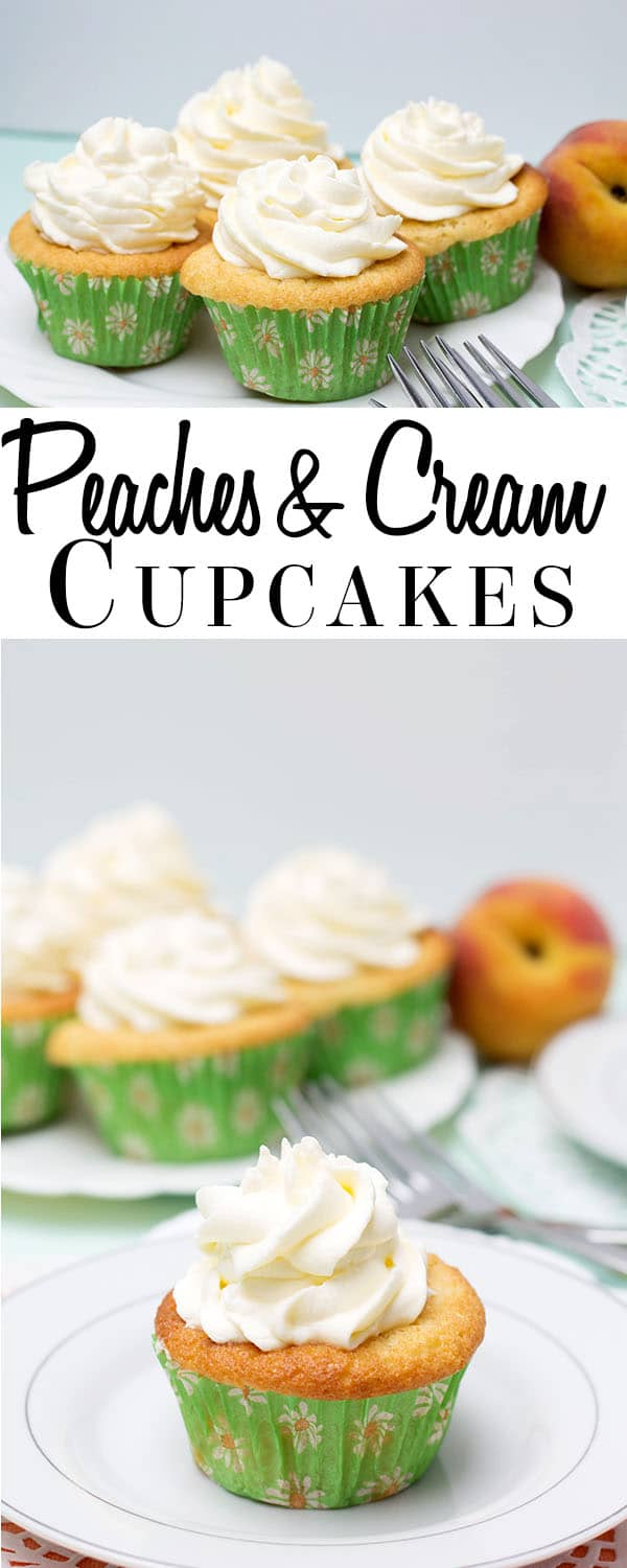 Peaches and Cream Cupcakes - Erren's Kitchen
