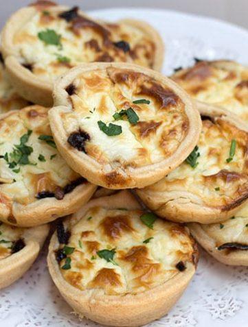 Feta and Caramelized Onion Tartlets
