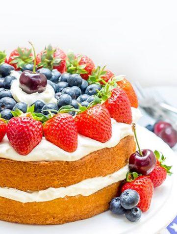 Vanilla Cream Sponge Cake
