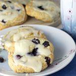 Iced Blueberry & Lemon Scones