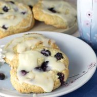 Iced Blueberry & Lemon Scones