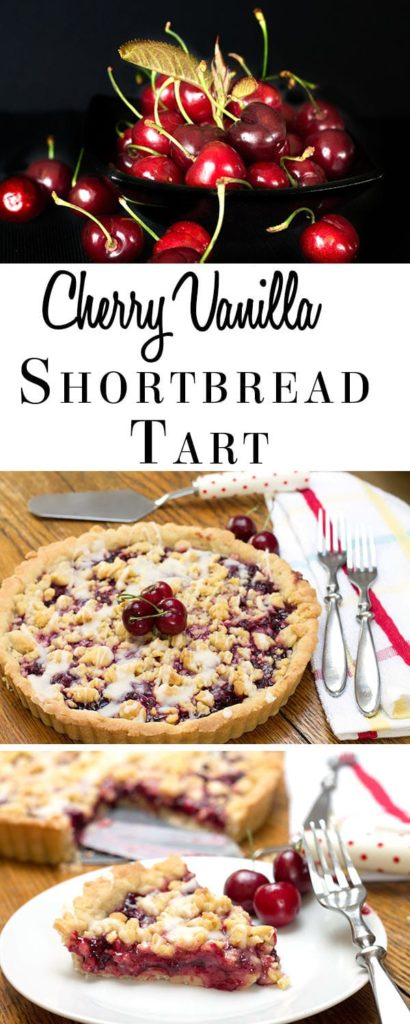 Cherry Vanilla Shortbread Tart - Erren's Kitchen