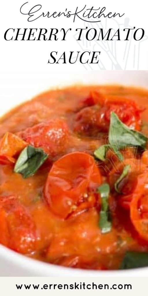 a bowl of cherry tomato sauce
