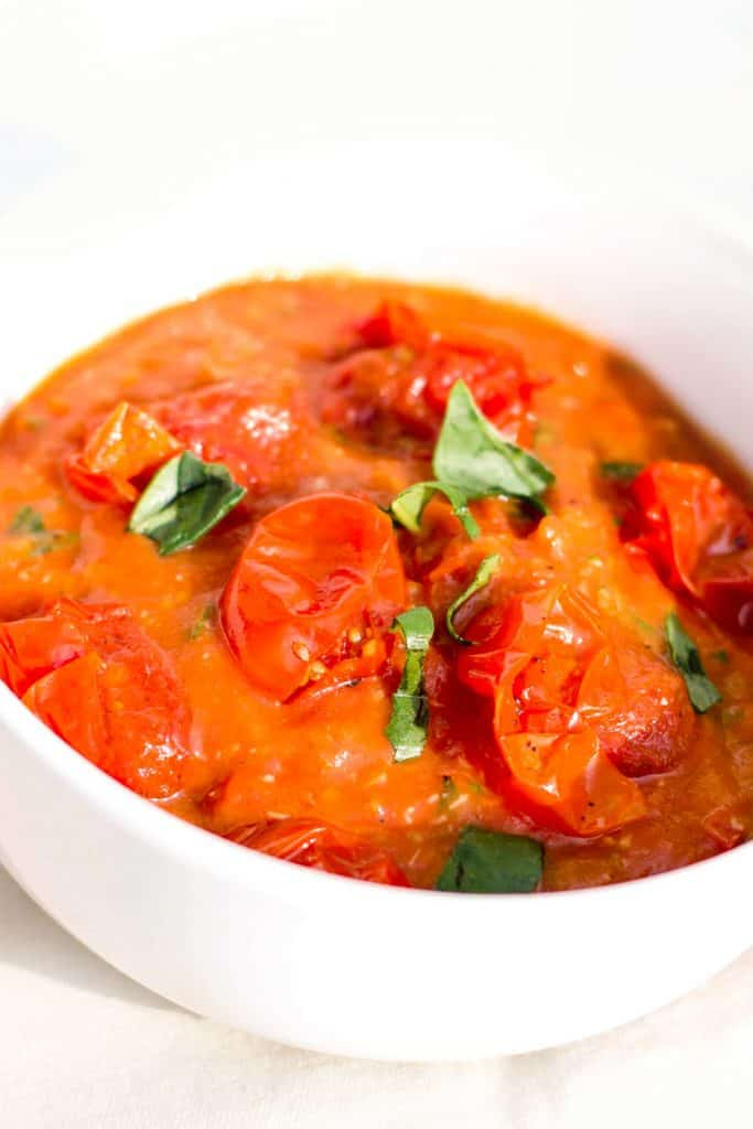 fresh tomato sauce in a bowl