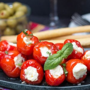 Cream Cheese Stuffed Peppadews