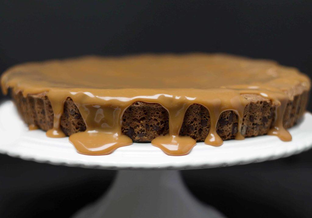 Chocolate Chip Caramel Cake - Erren's Kitchen