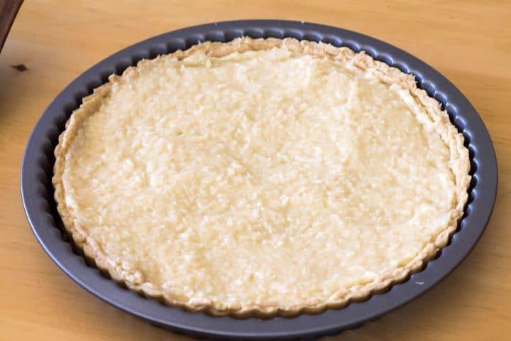 Coconut Cream Pie filed with coconut custard