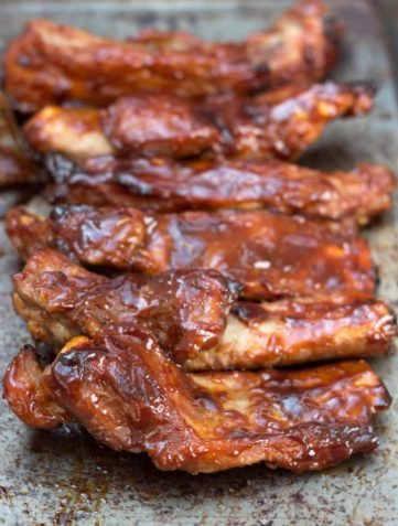 Baked or Barbecued Sticky Glazed Ribs