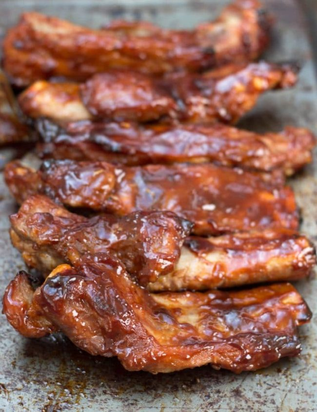 Baked or Barbecued Sticky Glazed Ribs - Erren's Kitchen