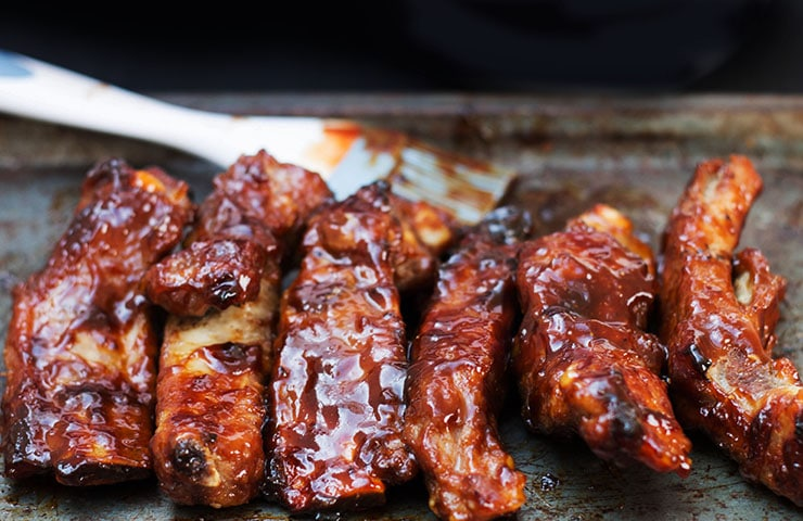 Baked Or Barbecued Sticky Glazed Ribs Erren S Kitchen