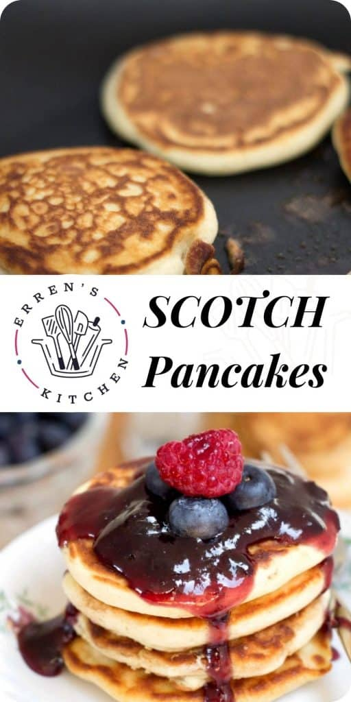 scotch pancakes ready to eat with fruit