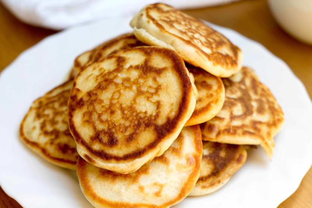 Scotch Pancakes in a pile