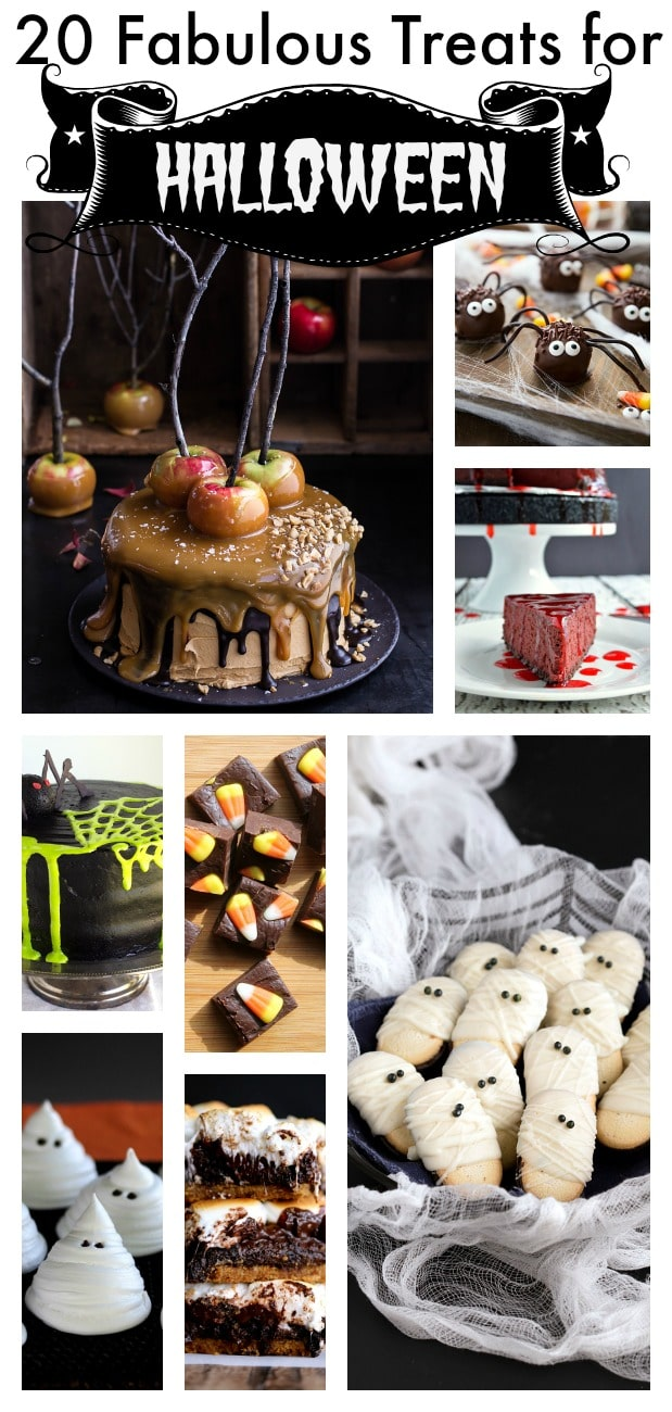 20 Fabulous Treats for Halloween - These amazing Halloween treats are delicious enough to satisfy all the mischievous ghosts and ghouls who come knocking at your door. With these recipes there is something for everyone.
