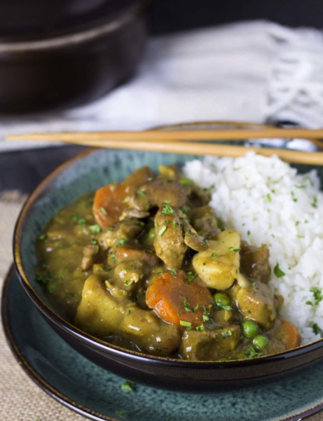 This recipe for Japanese Chicken Curry is a healthier take on fried Chicken Katsu Curry. Impress your friends and family with this simple, fragrant and flavorful dish.