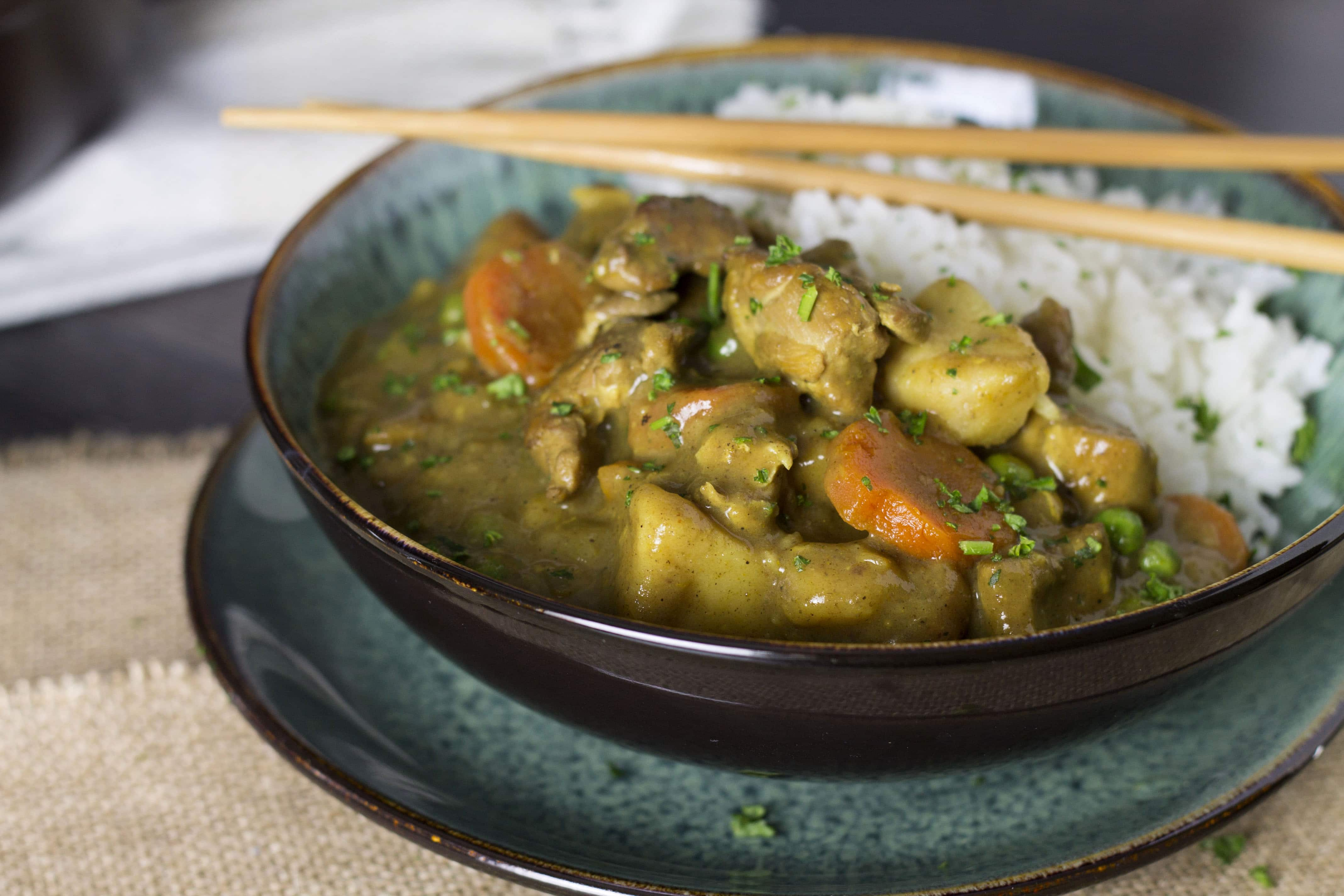 Japanese chicken curry errens kitchen this recipe for japanese chicken curry is a healthier take on fried chicken katsu curry forumfinder Choice Image