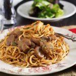 Spaghetti & Mushroom Tomato Sauce
