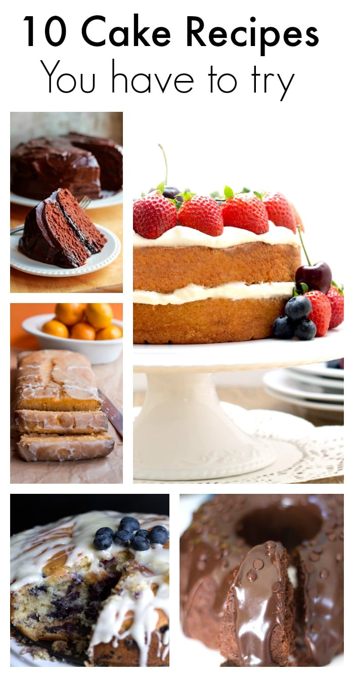10 Cake Recipes You Have To Try - Whether you're satisfying a dessert craving or have something to celebrate, nothing beats a fabulous cake. These 10 recipes are the cakes I'm most proud of and make time and time again. Try them and they'll soon become favorites in your house too!