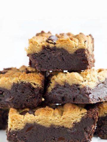 Peanut Butter Chocolate Fudge Brownies
