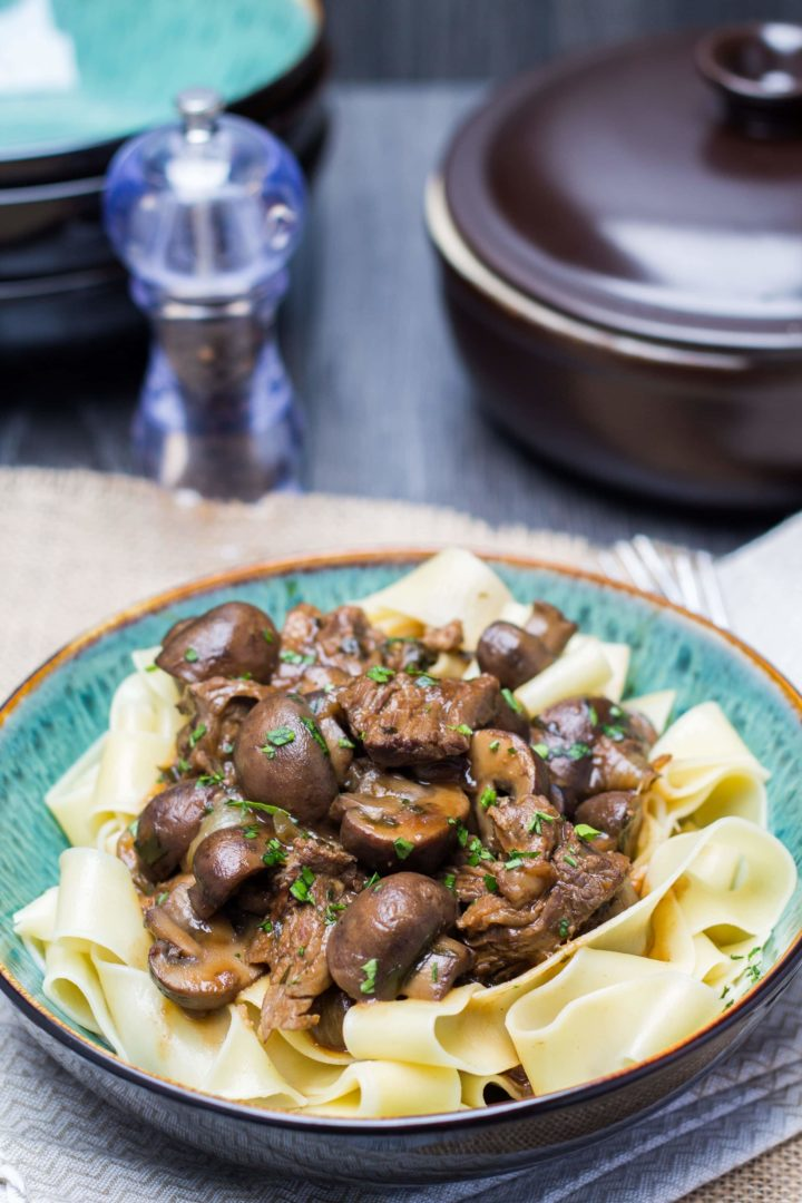 Slow Cooker Beef & Ale with Mushrooms