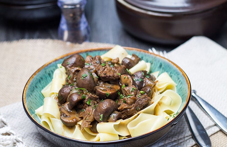 My Beef & Ale with Mushrooms